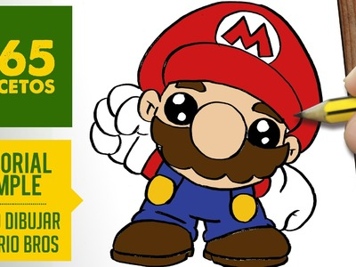 COMO DIBUJAR A MARIO BROS KAWAII PASO A PASO - Dibujos kawaii faciles - How to draw Mario Bros