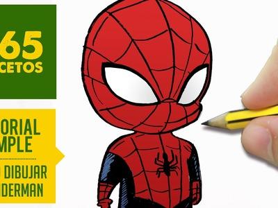 COMO DIBUJAR A SPIDERMAN Kawaii  PASO A PASO - Dibujar kawaii facil - How to draw Spiderman