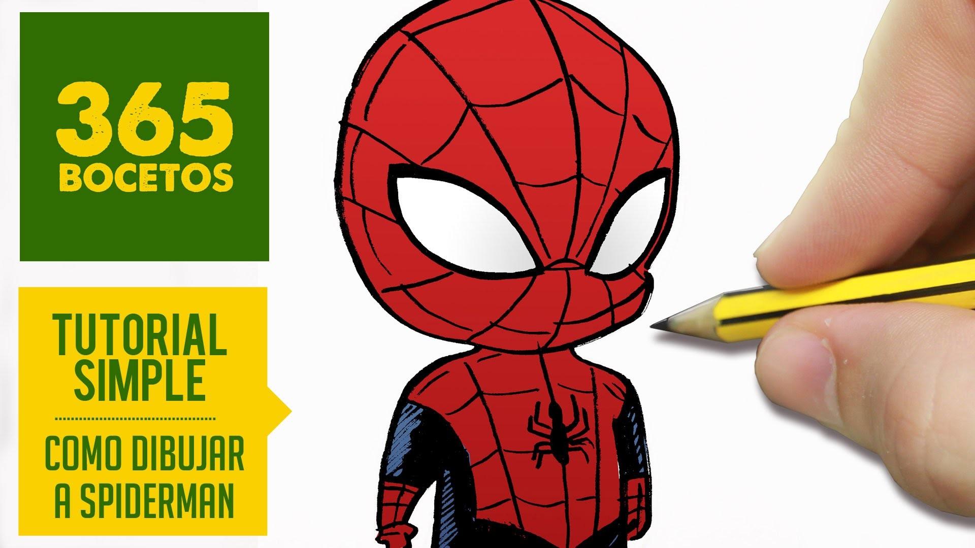 Hulk Para Colorear Facil: COMO DIBUJAR A SPIDERMAN Kawaii PASO A PASO