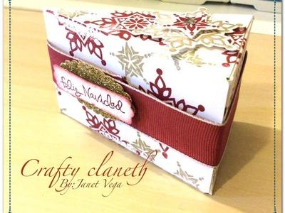 """Como hacer caja en forma de pieza pastel Stampin""""up! en español"""