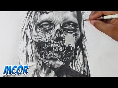 """Dibujando un Zombie de """"The Walking Dead"""""""