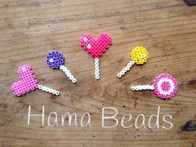 Divertida piruleta de hama beads