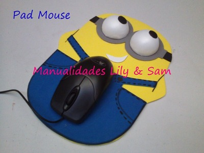Pad Mouse Minions en Foami (Goma Eva) Paso a Paso Sencillo