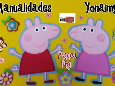 PEPPA PIG EN FOAMY O GOMA EVA PARA CENTROS DE MESA O ADORNOS