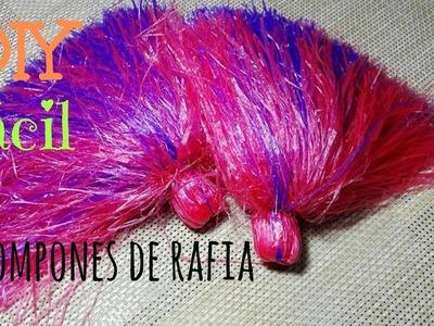 Pompones de Rafia - DIY Fácil
