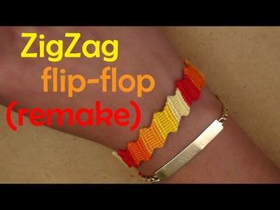 Pulsera de Hilo: ZigZag flip-flop (remake)