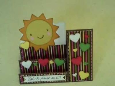 Tarjeta De San Valentin (tarjeta de escalon)