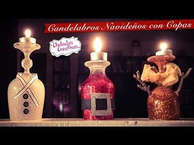 Candelabro Navideño con Copas :: Chuladas Creativas
