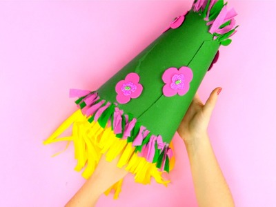 Como hacer un sombrero de cartulina para carnaval paso a paso