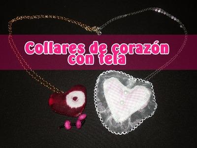 ♥ DIY ♥ collares corazón de tela ♥