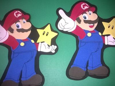 DIY Mario bros de foamy para centro de mesa!!