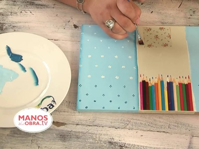Pintar una Caja de Madera -  Decoupage - Collage - Pintura Decorativa