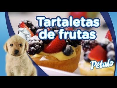 Tartaletas de frutas con crema pastelera. Tu Cocina Pétalo®