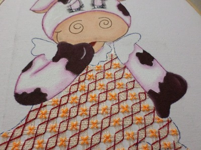 Bordado Fantasía Vestido Vaca
