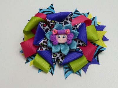 Como hacer lazo doble,How To Make a Hair Bow, Make Simple Easy Bow
