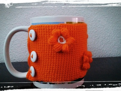 Como hacer un Cubre tazas de ganchillo o crochet