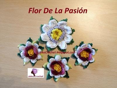 Paso a paso - Flor de la Pasión - Crochet o Ganchillo