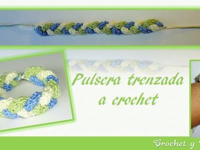 Pulsera trenzada a crochet – ganchillo ♥ DIY