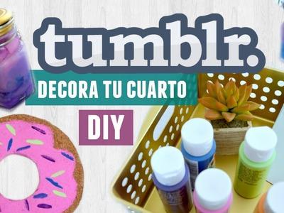 Decora tu cuarto estilo TUMBLR. DIY fácil y económico | Karen Rios
