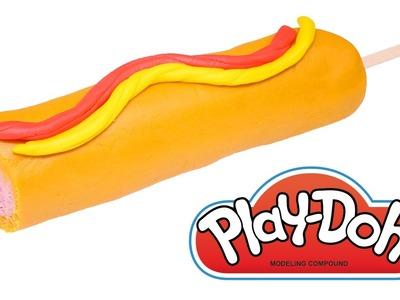 DIY Banderillas de Salchicha Play-Doh Como se Hace por DCTC en Español Comida de Plastilina