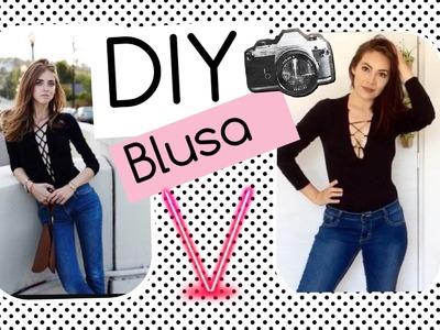 DIY - Blusa Cruzada - Kendall Jenner