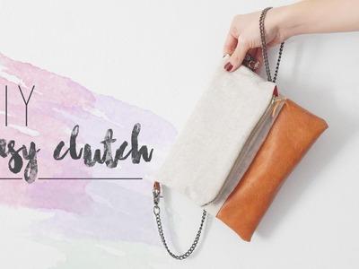 DIY EASY CLUTCH | Bolso de lino y cuero