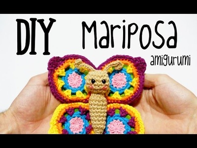 DIY Mariposa amigurumi crochet.ganchillo (tutorial)