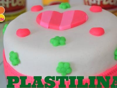 Play Doh  DIY Pastel de corazones de plastilina  How to make hearts  SALILA SHOW