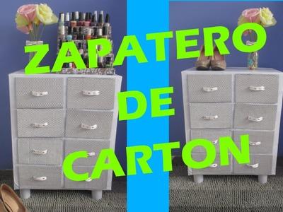 ZAPATERO DE CARTON (CAJONERA) DIY *Andy Llaya*