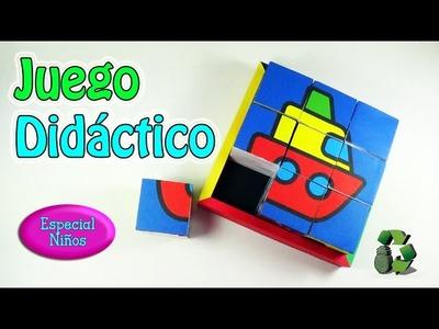 212. Manualidades: Juego didáctico para niños [Puzzle.Rompecabezas](Reciclaje) Ecobrisa