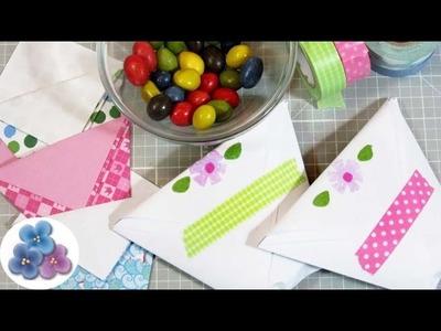 Bolsas de Papel para Regalos Fácil Dulceros para niños Origami Manualidades con Papel Pintura Facil