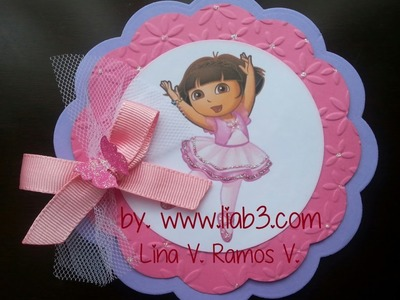 INVITACIONES  DE DORA LA EXPLORADORA + de 20  iDEAS DIY