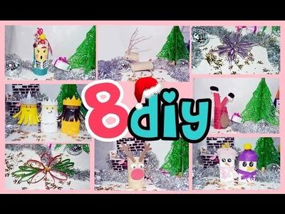 8 MANUALIDADES fáciles de NAVIDAD con rollos de cartón - BeagleArts ♥
