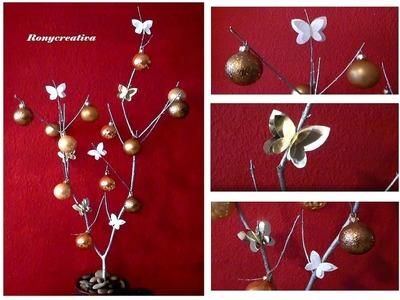 Arbol de Navidad tipo rústico. Rustic Christmas Tree DIY
