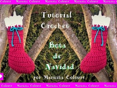 Bota de Navidad a Crochet  por Maricita Colours Subtitles in English