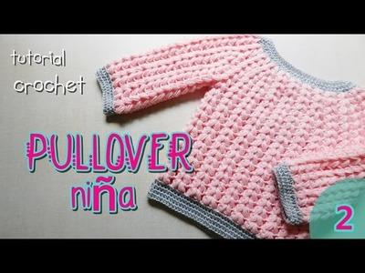 Como tejer a crochet pulover, saco (2.2)