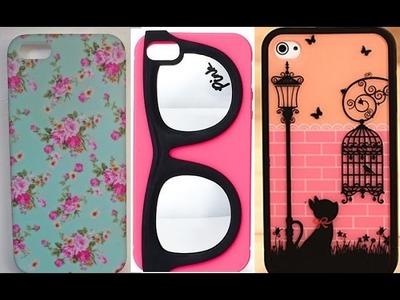 DIY: 5 Fundas para tu celular DIY - cómo decorar lindas fundas