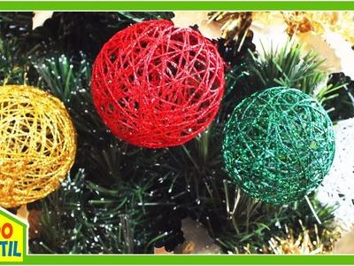 Esferas de Estambre para Navidad - Manualidades | Campo Infantil