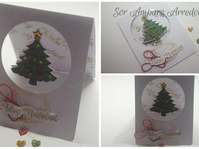 Manualidades para Navidad: COMO hacer TARJETA  para NAVIDAD DIY ♥