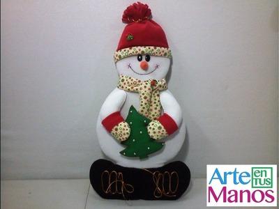 Muñeco de Nieve en Retablo de Madera (MDF) Paso a Paso