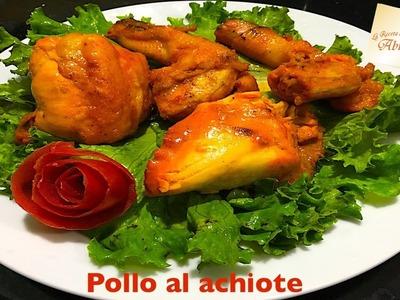 Pollo al achiote receta muy rica y facil de preparar