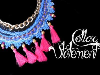 Collar Statement  -Bisuteria con Kath Craft-