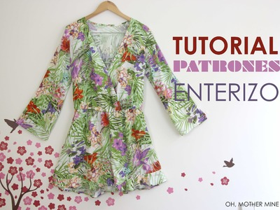DIY Tutorial y patrones: Mono. Enterizo estampado