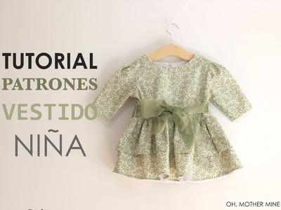 DIY Patrones y tutorial: Vestido niña con volantes