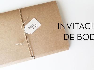 Invitación de Boda DIY | Boda DIY