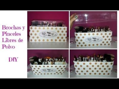Brochas y Pinceles Libres de Polvo - Dust Free Makeup Brushes - Organizador DIY