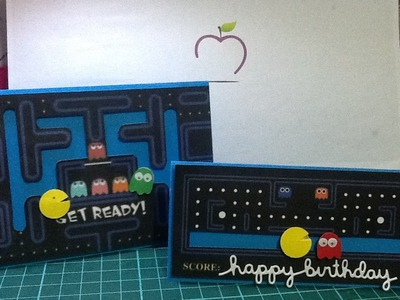 Tarjeta interactiva deslizable de pacman facil. easy slider card DIY