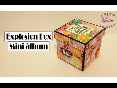 Tutorial Explosion Box Mini Album - DIY Scrapbook