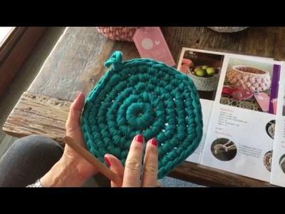 Crochet con totora - Base circular (Parte 3)