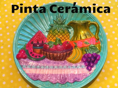 Diy Pinta cerámica frutal servilleta tinta ceramic paints
